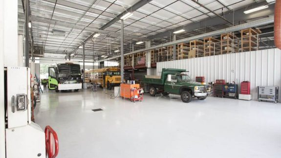 Miller Motor Coach Maintenance Garage